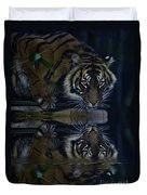 Sumatran Tiger Reflection Duvet Cover