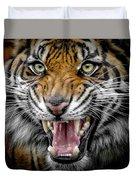 Sumatran Tiger Snarl Duvet Cover