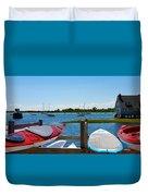 Summer Afternoon Boating Duvet Cover