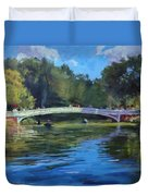 Summer Afternoon On The Lake, Central Park Duvet Cover