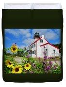 Summer At East Point Light Duvet Cover