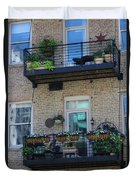 Summer Balconies In Chicago Illinois Duvet Cover