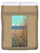 Summer Beach Grasses Duvet Cover