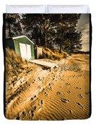 Summer Beach Shacks Duvet Cover