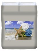 Summer Beach Towels Duvet Cover by Amanda Elwell