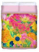 Summer Blossoms - Pop Art Duvet Cover