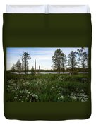 Summer By The Lake Enajarvi Duvet Cover