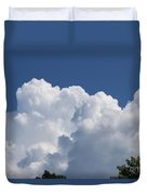 Summer Clouds In Maine Duvet Cover