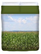 Summer Corn And Blue Skies In Maine  Duvet Cover