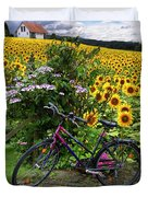 Summer Cycling Duvet Cover