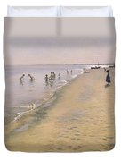 Summer Day At The South Beach Of Skagen Duvet Cover