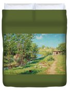 Summer Day By The Stream Duvet Cover