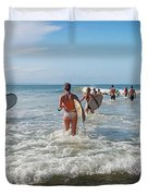 Summer Days Byron Waves Duvet Cover