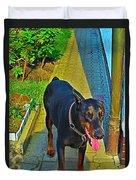 Summer Dog Day Duvet Cover