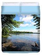 Summer Dreaming On Lake Umbagog  Duvet Cover