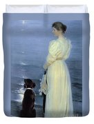 Summer Evening At Skagen Duvet Cover