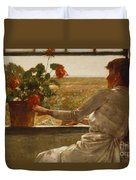 Summer Evening Duvet Cover by Childe Hassam