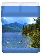Summer Family Kayak Fun Duvet Cover