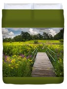 Summer Field Of Wildflowers Duvet Cover