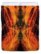10658 Summer Fire Mask 58 - Dance Of The Fire Queen Duvet Cover
