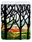 Summer Forest Abstract  Duvet Cover