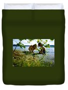 Summer Fun In Finland Duvet Cover