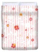 Summer Garden Floral Pattern Duvet Cover