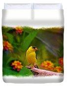 Summer Goldfinch Duvet Cover
