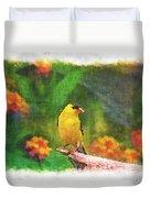 Summer Goldfinch - Digital Paint 4 Duvet Cover