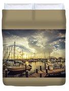 Summer Harbor Sunset Duvet Cover