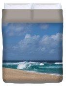 Summer In Hawaii - Banzai Pipeline Beach Duvet Cover