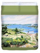 Summer In Lunenburg Harbour Duvet Cover