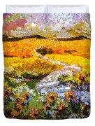 Summer Landscape Sunflowers Provence Duvet Cover