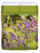 Summer Lavender In Lush Green Fields Duvet Cover