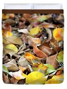 Summer Leaves For Fall Duvet Cover