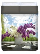 Summer Lilacs Duvet Cover