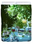 Summer Lunch Remembered Duvet Cover