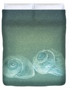 Two Seashell Reflections Duvet Cover
