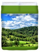 Summer Morning Meadow And Ridge Duvet Cover