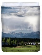 Summer Mountain Paradise Duvet Cover