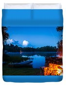 Summer Nights On The Pond Duvet Cover