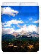 Summer On Mt. Shasta Duvet Cover