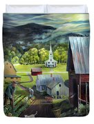 Summer On The Back Road In Vermont Duvet Cover
