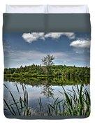 Summer On Waukeena Lake Duvet Cover