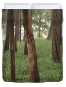 Summer Palace Trees And Lamp Duvet Cover