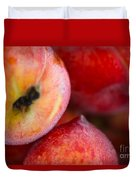 Summer Peaches Duvet Cover