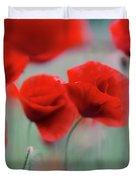 Summer Poppy Meadow 2 Duvet Cover
