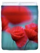 Summer Poppy Meadow 3 Duvet Cover