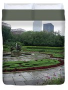 Summer Rain In The Conservatory Garden Duvet Cover