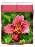 Summer Red Lily Duvet Cover